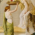 A Basket Of Roses - Grecian Girls by Henry Thomas Schaefer
