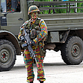 A Belgian Infantry Soldier Handling by Luc De Jaeger