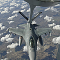 A Chilean Air Force F-16 Refuels by Giovanni Colla