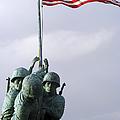 A Close Up Of The Iwo Jima Bronze by Michael Wood