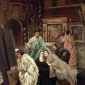 A Collector Of Pictures At The Time Of Augustus by Sir Lawrence Alma-Tadema