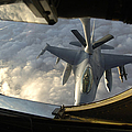 A Kc-135 Stratotanker Connects With An by Stocktrek Images
