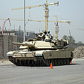 A M1 Abram Sits Out Front Of The New by Terry Moore