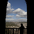 A Man Looks Out Of Ajloun Castle by Taylor S. Kennedy
