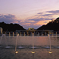 A Night View Of Memorial Plaza by Richard Nowitz