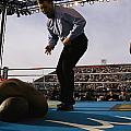 A Referee Counts Out A Fallen Boxer by Maria Stenzel
