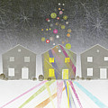A Row Of Houses by Jutta Kuss
