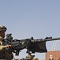 A Royal Marine Manning A .50 Caliber by Andrew Chittock