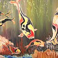 A School Of Koi by Rachel Carmichael