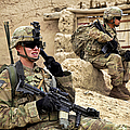 A Soldier Calls In Description by Stocktrek Images