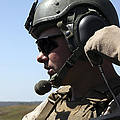 A Soldier Keeps In Radio Contact by Stocktrek Images
