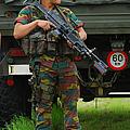A Soldier Of An Infantry Unit by Luc De Jaeger