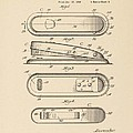 A Stapler Patent - on Pi Day Print by David Bearden