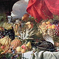 A Still Life Of Game Birds And Numerous Fruits by William Duffield