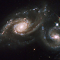 A Triplet Of Galaxies Known As Arp 274 Print by Stocktrek Images