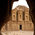 A View Of The Monastary In Petra by Taylor S. Kennedy
