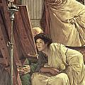 A Visit To The Studio by Sir Lawrence Alma-Tadema
