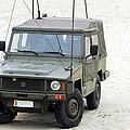 A Vw Iltis Jeep Of A Unit Of Belgian by Luc De Jaeger