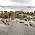 A Woman Enjoys A Hot Spring by Taylor S. Kennedy