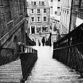 aberdeen union street back wynd stairs scotland uk Print by Joe Fox