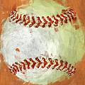 Abstract Baseball Print by David G Paul
