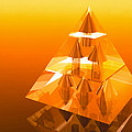 Abstract Computer Artwork Of A Pyramid Of Arrows by Laguna Design