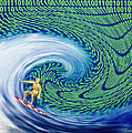 Abstract Computer Artwork Of Surfing The Internet Print by Laguna Design