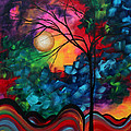 Abstract Landscape Bold Colorful Painting Print by Megan Duncanson