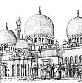 Abu Dhabi Masjid In Ink  by Adendorff Design