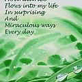 Abundance Affirmation by Irina Sztukowski