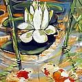 Admiring A Lotus by Robert Wolverton Jr