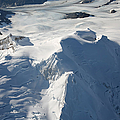 Aerial View Of Glaciated Mount Douglas by Richard Roscoe