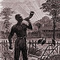 African American Blowing The Wake-up by Everett