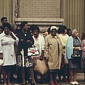 African Americans Mostly Women Waiting by Everett