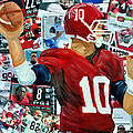 Alabama Quarter Back Passing by Michael Lee