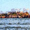 Alcatraz Island In San Francisco California . 7d14031 by Wingsdomain Art and Photography