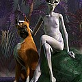 Alien And Dog by Daniel Eskridge