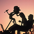 Amateur Astronomers With Meade 2080 20cm Telescope by John Sanford