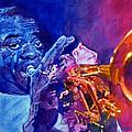 Ambassador Of Jazz - Louis Armstrong Print by David Lloyd Glover
