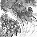 AMERICA: SLEIGHING, 1858 Poster by Granger