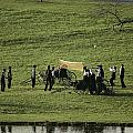 Amish Buggies Anchor A Volleyball Net Print by Ira Block