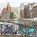 Amsterdam Canal And Bikes by Giancarlo Liguori