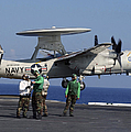 An  E-2c Hawkeye Launches From Aboard Print by Stocktrek Images