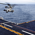 An Mh-53e Sea Dragon Prepares To Land by Stocktrek Images