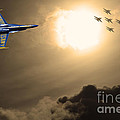 Angels In The Sky . Partial Sepia by Wingsdomain Art and Photography