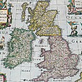 Antique Map Of Britain by English School