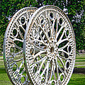 Antique Paddle Wheel University Of Alabama Birmingham by Kathy Clark