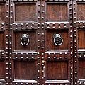 Antique Wood Door In Florence by Giuseppe Ceschi