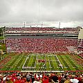 Arkansas Marching Band Forms U-of-a At Razorback Stadium by Replay Photos