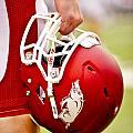 Arkansas Razorback Helmet by Replay Photos
